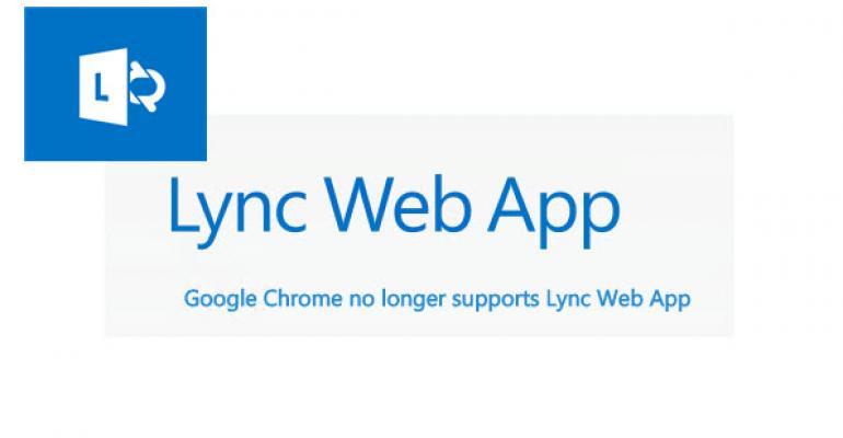December Lync 2013 CU Breaks Google Chrome Ability to Join Meetings