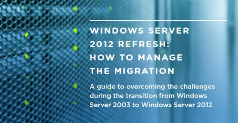 Free eBook on Windows 2003 Server Migrations