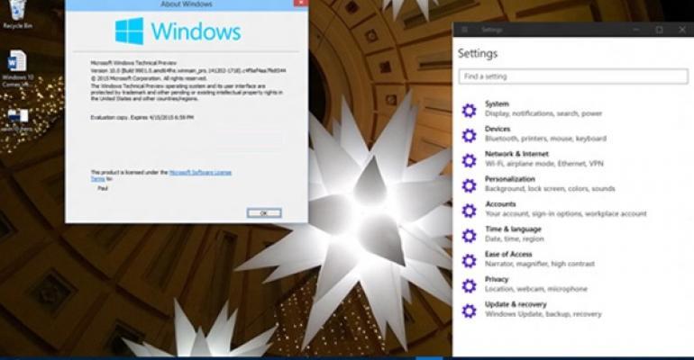 Windows 10 Comes Into Focus