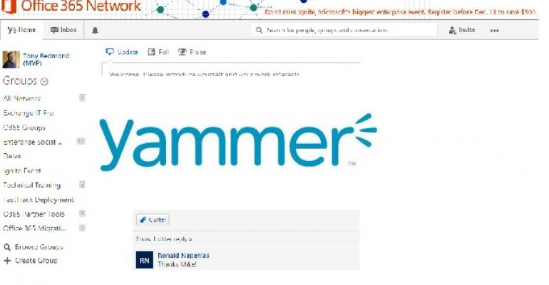The Confusion around Yammer and Office 365 Groups