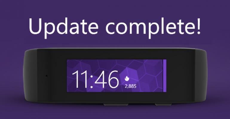 First Update for Microsoft Band is Now Available
