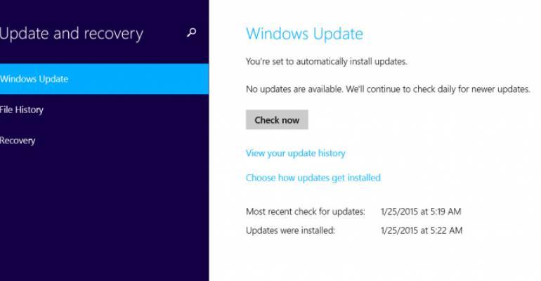 Windows Update Logging Change in Windows 10 Build 9926