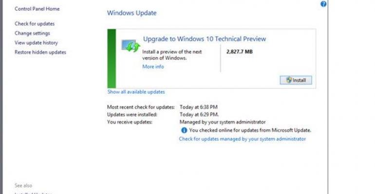In-place Upgrade to Windows 10