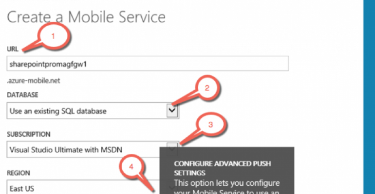 Azure SQL as the Backbone to Azure Mobile Service