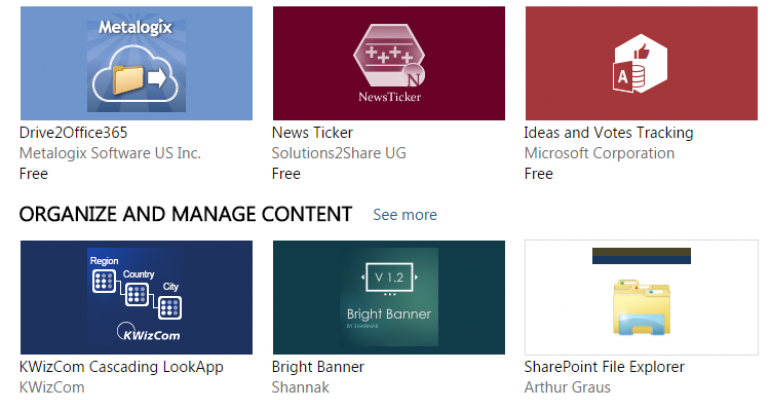 There's an App for That--In SharePoint
