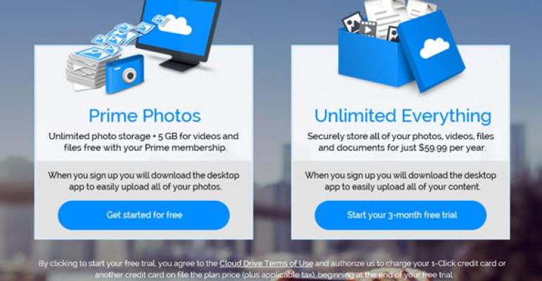Amazon Launches Unlimited Cloud Storage Plan for $60 Annually