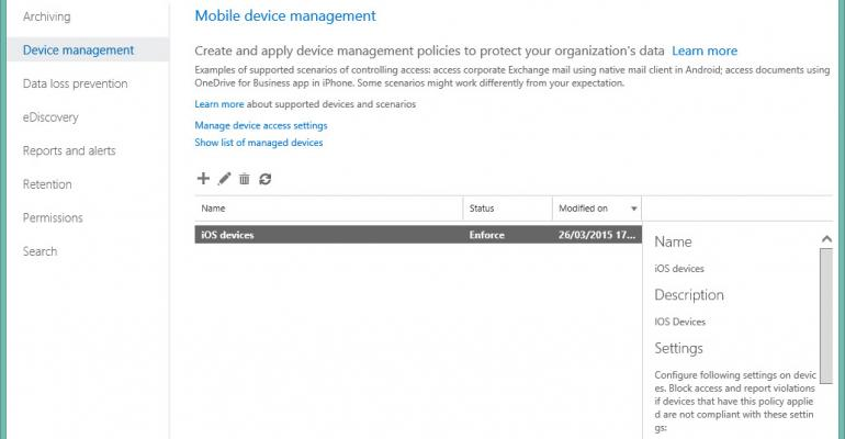 MDM for Office 365 - better than EAS policies, but not quite full mobile device management