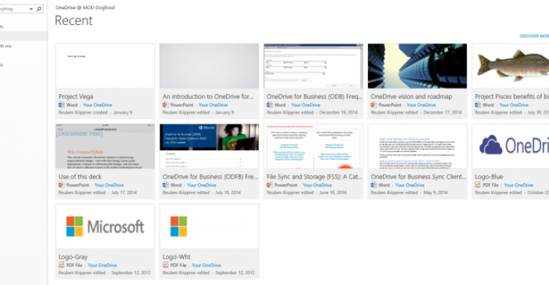 OneDrive for Business receiving several web interface updates