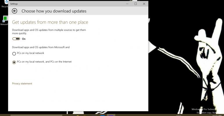 Managing Windows 10's New Peer Updating Capability Using GPO