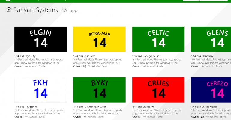 Spammy apps in the Windows Store