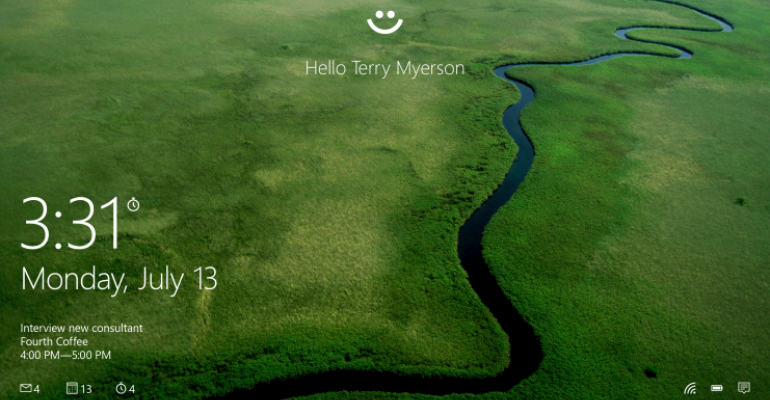 Windows 10 will be more secure using Windows Hello and Passport