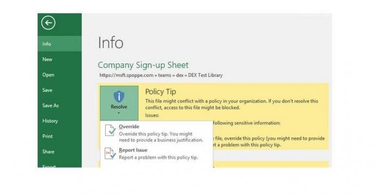SharePoint, OneDrive for Business To Get DLP Boost