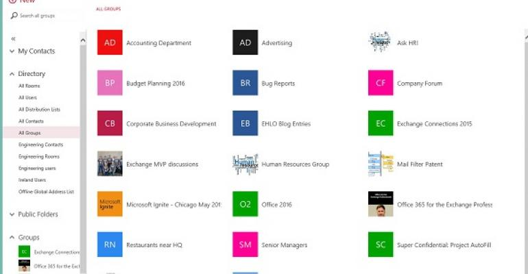 Office 365 Groups show up in Outlook 2016 Preview