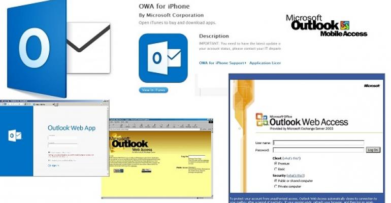The various flavors of Outlook
