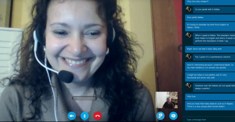 The Italian Skype Translator Preview experience