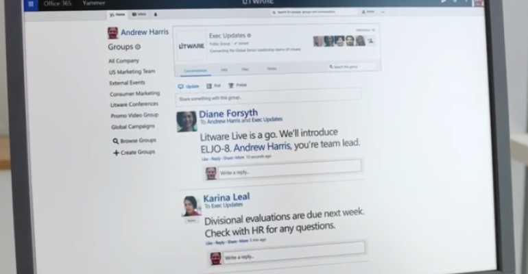 Yammer expands collaboration features for external team members