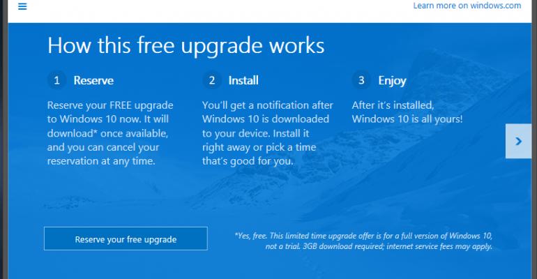 Microsoft begins testing their Windows 10 Upgrade Notifications