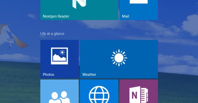 Hands On: Windows 10 build 10122 in Tablet Mode on HP Stream 7