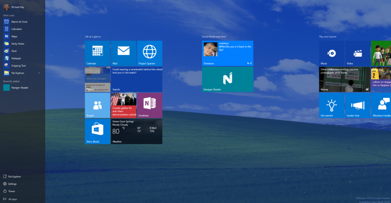 Hands On with Windows 10 Build 10130