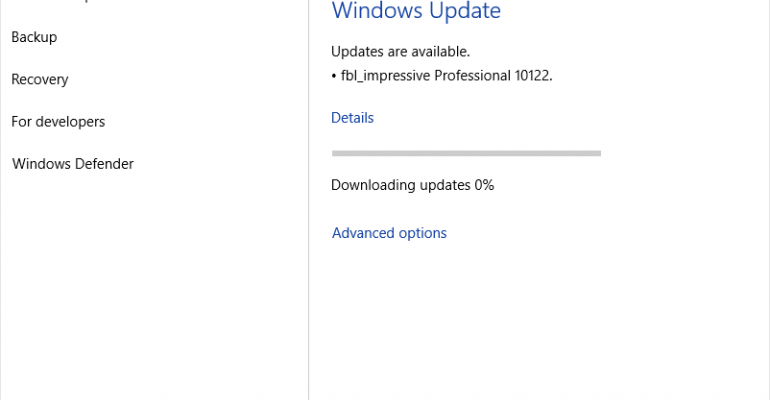 Windows 10 build 10122 available for Fast Ring Insiders