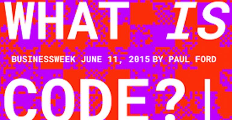 Bloomberg Businessweek's Code Issue Breaks Through