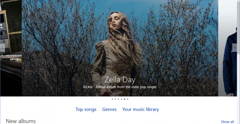 Music comes onstage in Windows 10 Store Beta