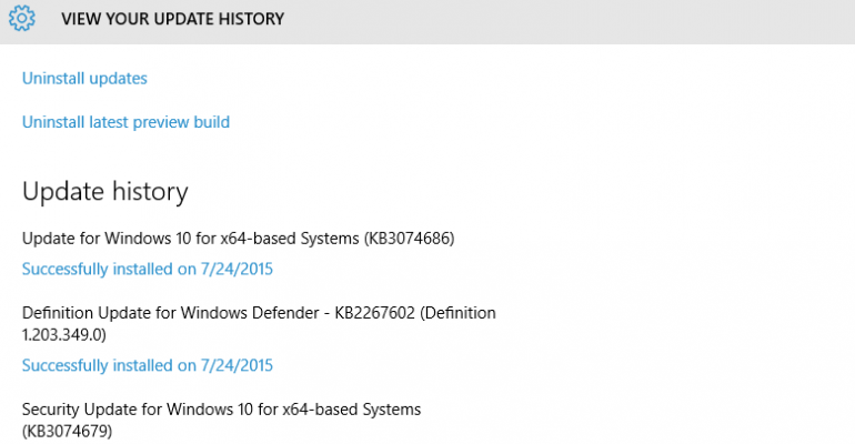 Windows 10 Build 10240 receives two more updates