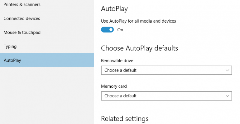 How to customize AutoPlay defaults on Windows 10