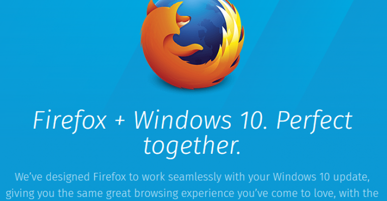 FireFox update supposedly optimizes browsers interface for Windows 10