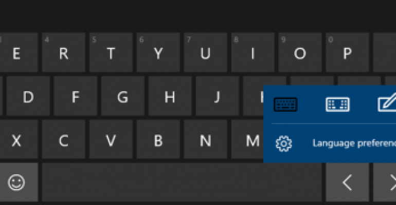 How To Change Between The Different Onscreen Keyboard Options In
