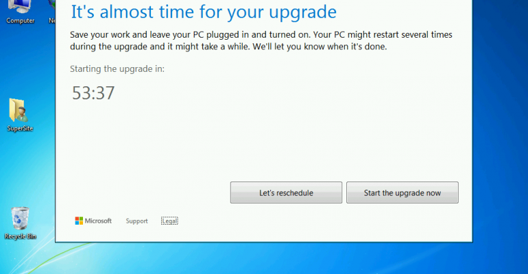 Prevent the Windows 10 upgrade from installing after making your reservation