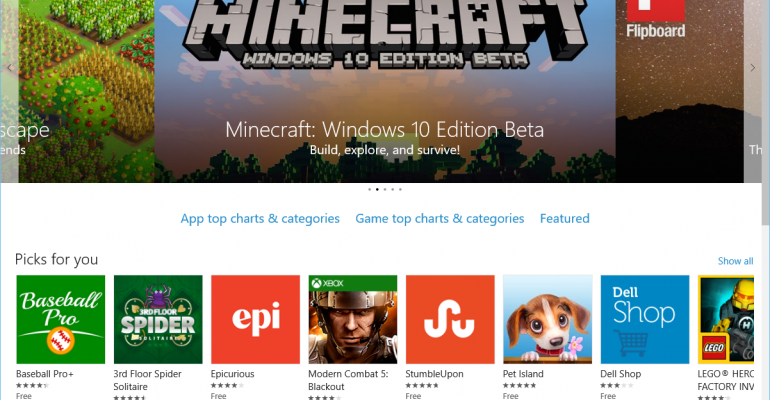Windows 10 Home users can now toggle automatic app updates in Windows Store