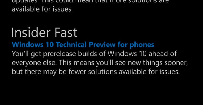 Microsoft clarifies Windows 10 Mobile Insider Program status