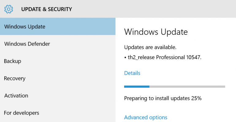 Windows 10 Build 10547 released to Windows Insiders