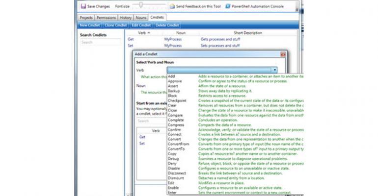 PowerShell Cmdlet Designer for Developers