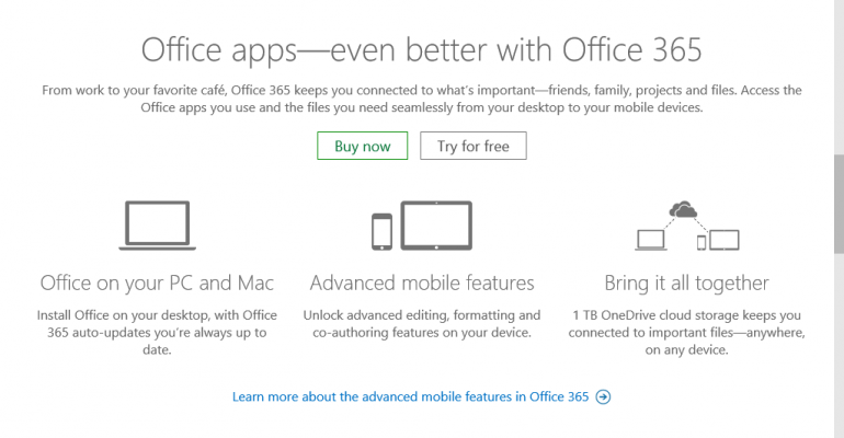 Microsoft Office 365 Personal available for 50% off with Windows 10