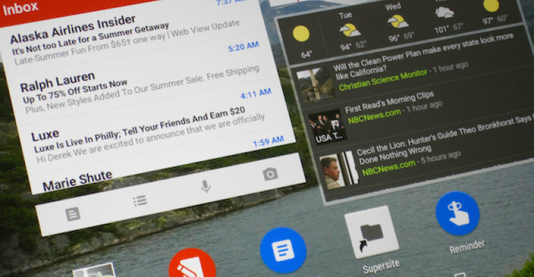 Work better with Android, Part I: Widgets, buttons, and other live content