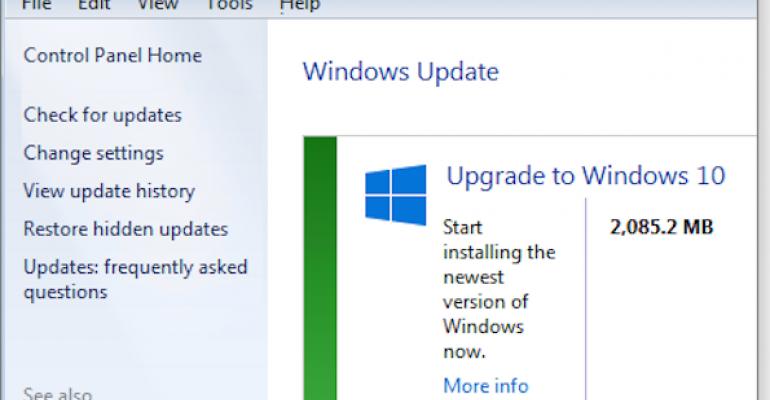 Where is my Windows 10 update?