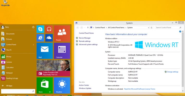 Microsoft quietly releases Windows 10 Start Menu for Windows RT