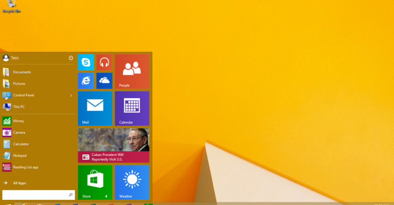 What's new and improved on the Windows 10 Start Menu on Windows RT 8.1