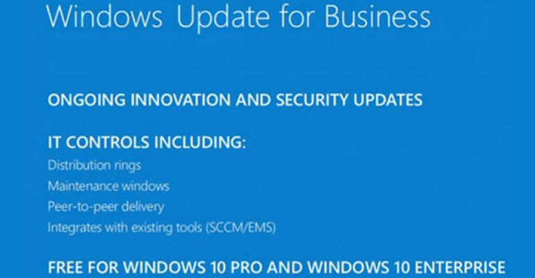 Microsoft Preps the Backend for Windows Update for Business