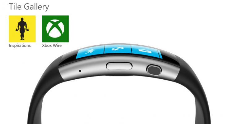 The Microsoft Health Tile Gallery for Microsoft Band