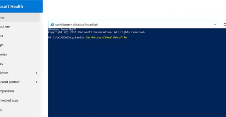 Use PowerShell to Retrieve Data from the Microsoft Health Dashboard