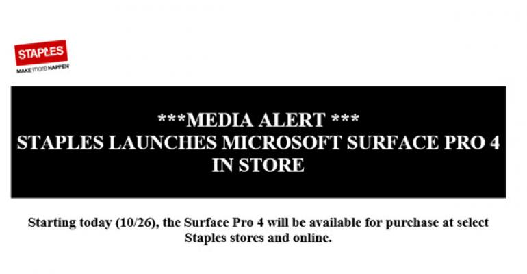 Staples Joins the Ranks to Offer Surface Pro 4 In-store