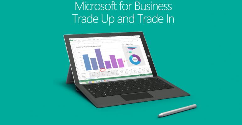 Surface Trade-up and Trade-in Program for Businesses