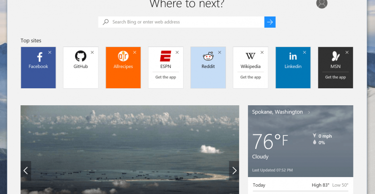 Change the default web browser in Windows 10