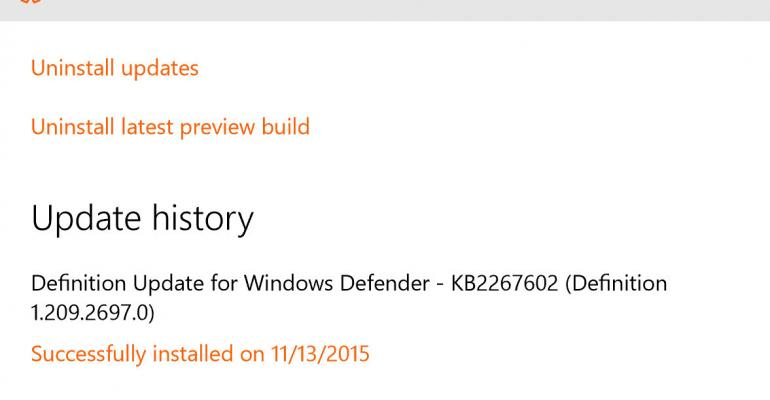 Installing Windows 10 November Release After it Failed