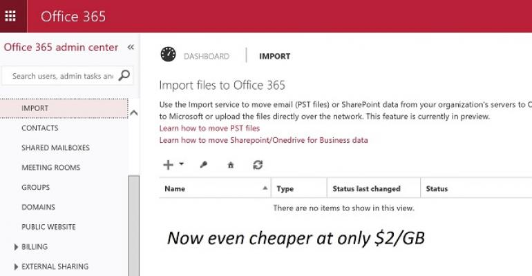 Microsoft reduces price for Office 365 Import Service