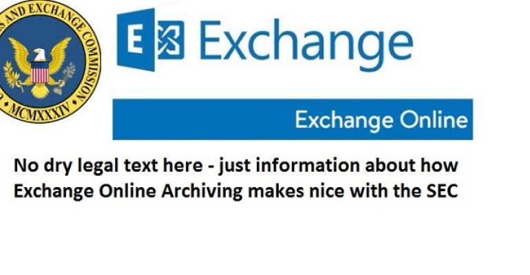 The not so boring version of how Exchange Online satisfies SEC rule 17A-4