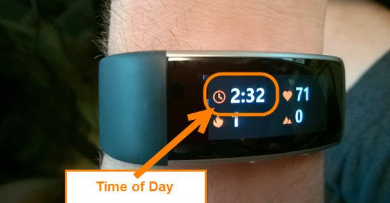 Band v2 Enhancements: Clock Display During Activity